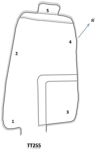 TT255 - Floor plan of TT255