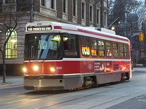 508 Lake Shore - Image: TTC 4159 on Church Street