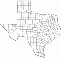 Location of McCamey, Texas