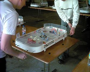 Table hockey games - A Stiga table hockey game