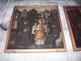 Romanus of Rouen - An image from the life of St. Romanus.