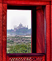 Taj Mahal from the window in the Red Fort.jpg