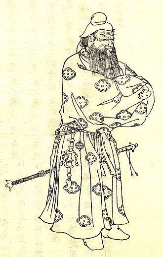 Takenouchi no Sukune - Takenouchi no Sukune drawn by Kikuchi Yosai