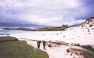 Taransay - The beach at Paible, Taransay.