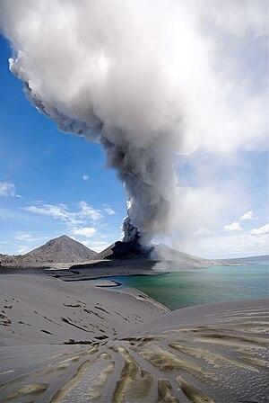 Tavurvur - Tavurvur erupting