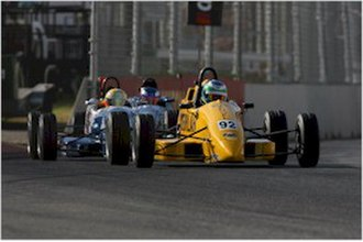 Taz Douglas - Douglas placed 8th in the 2007 Australian Formula Ford Championship driving a Mygale SJ06 Ford