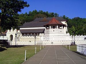 Kandy, Sri Lanka. The temple of the tooth, whi...
