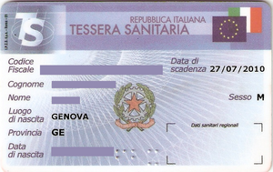 Italian health insurance card