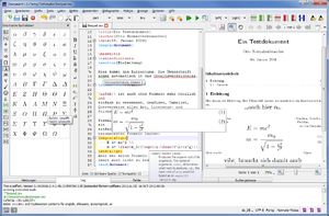 Screenshot von TeXstudio