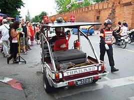 Thailand chiangmai tuk tuk police