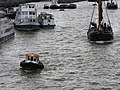 Thames barge parade - through Tower Bridge into the Pool by Will's berth 6687.JPG