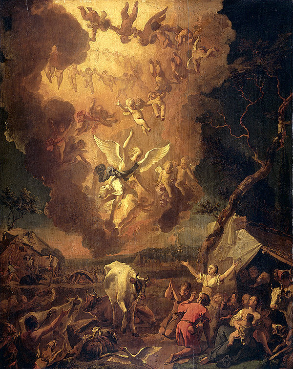 The Annunciation to the Shepherds 1663 Abraham Hondius.jpg