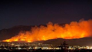 Apple Fire 2020 wildfire in Riverside, California