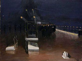Scuttling of the German fleet in Scapa Flow - John Lavery's painting of the German delegates arriving on HMS Queen Elizabeth