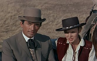 Carroll Baker - Baker with Gregory Peck in The Big Country (1958).