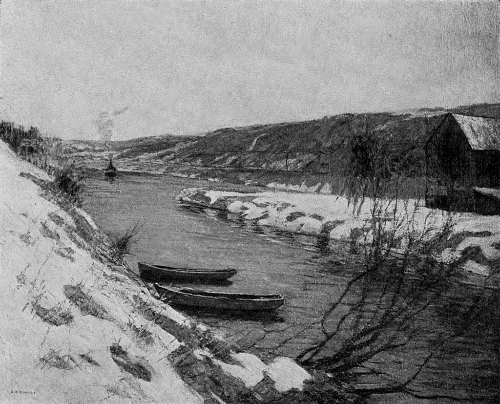 The Canal, Evening, by Edward W. Redfield.jpg