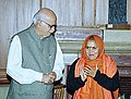 The Chief Minister of Madhya Pradesh Sushree Uma Bharti calls on the Deputy Prime Minister Shri L.K. Advani in New Delhi on December 24, 2003.jpg