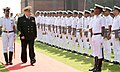 The Commander-in-Chief, Russian Federation Navy, Admiral Vladimir Korolev inspecting the Guard of Honour, in New Delhi on March 15, 2017.jpg