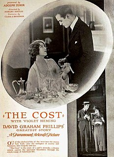 <i>The Cost</i> (film) 1920 film by Harley Knoles