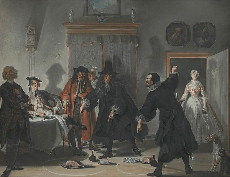 File:The Dispute between Doctors Raasbollius and Urinaal by Cornelis Troost Mauritshuis 191.jpg