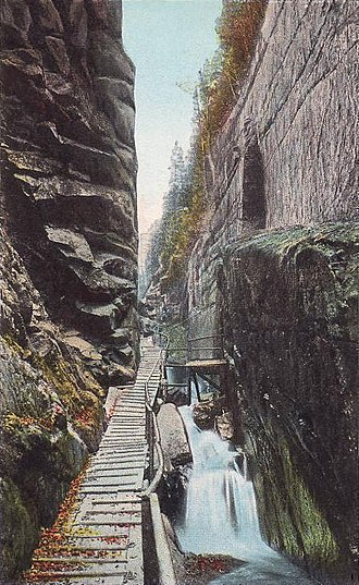 Lincoln, New Hampshire - The Flume c. 1915