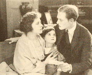 Mickey Moore - Moore (center) with Lois Wilson and Conrad Nagel in The Lost Romance (1921)