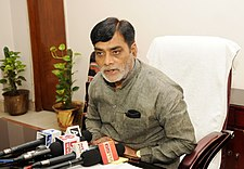 The Minister of State for Rural Development, Shri Ram Kripal Yadav addressing the media after taking charge in his office, in New Delhi on July 08, 2016.jpg