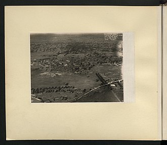 Tamale, Ghana - Aerial view: Tamale native town and police barracks (1929)