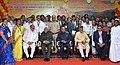 The President, Shri Ram Nath Kovind in a group photograph at the inauguration of new Hospital Building of SVIMS - Sri Padmavathi Medical College for Women, in Tirupati, Andhra Pradesh.jpg