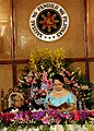The President of Philippines Mrs. Gloria Macapagal Arroyo delivering Banquet speech hosted in honour of the visiting President of India Dr A.P.J. Abdul Kalam at the Malacanang Palace in Manila on 4 February 2006.jpg