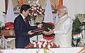 The Prime Minister, Shri Narendra Modi and the Prime Minister of Japan, Mr. Shinzo Abe at the signing ceremony, in New Delhi on December 12, 2015 (1).jpg