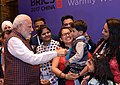 The Prime Minister, Shri Narendra Modi being welcomed by the Indian community, on his arrival, to attend the 9th BRICS Summit, in Xiamen, China on September 03, 2017 (2).jpg