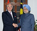 The Prime Minister of Malaysia, Dato' Sri Mohd Najib Tun Abdul Razak meeting the Prime Minister, Dr. Manmohan Singh, in New Delhi on January 20, 2010.jpg
