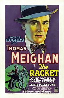 Description de l'image  The Racket (1928) film poster.jpg.