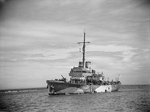 USCGC Itasca (1929) - Image: The Royal Navy during the Second World War A16768