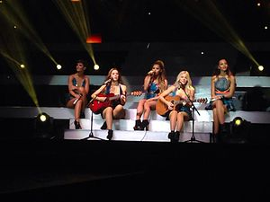 The Saturdays - The Saturdays performing during their Greatest Hits Live! tour in September 2014.