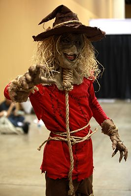 Fan als The Scarecrow tijdens de 2014 Amazing Arizona Comic Con.