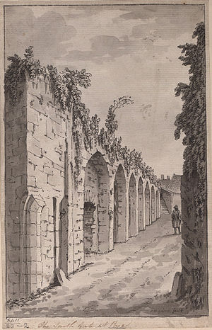 Rye, East Sussex - The South Gate at Rye, 1785, by Samuel Hieronymus Grimm