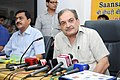 The Union Minister for Rural Development, Panchayati Raj, Drinking Water and Sanitation, Shri Chaudhary Birender Singh addressing the media after releasing the Panchayat Darpan and SAGY-Sankalan on Saansad Adarsh Gram Yojana.jpg