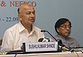 The Union Power Minister, Shri Sushil Kumar Shinde briefing the media on the MoU signed in Itanagar for development of hydroelectric project to the tune of 15000 MW, in New Delhi on September 22, 2006.jpg