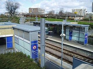 University Metro station Tyne and Wear Metro station in Sunderland