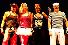 The bands fourth lineup: (L-R) Donny Latupeirissa, Denise Post-Van Rijswijk, Kim Sasabone, Yorick Bakker performing in 2009.