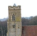 The church of St Andrew in Illington - tower (detail) - geograph.org.uk - 1758798.jpg