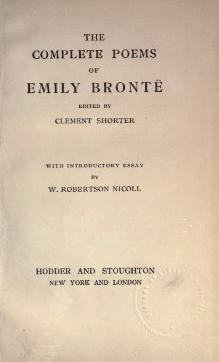The complete poems of Emily Bronte.djvu