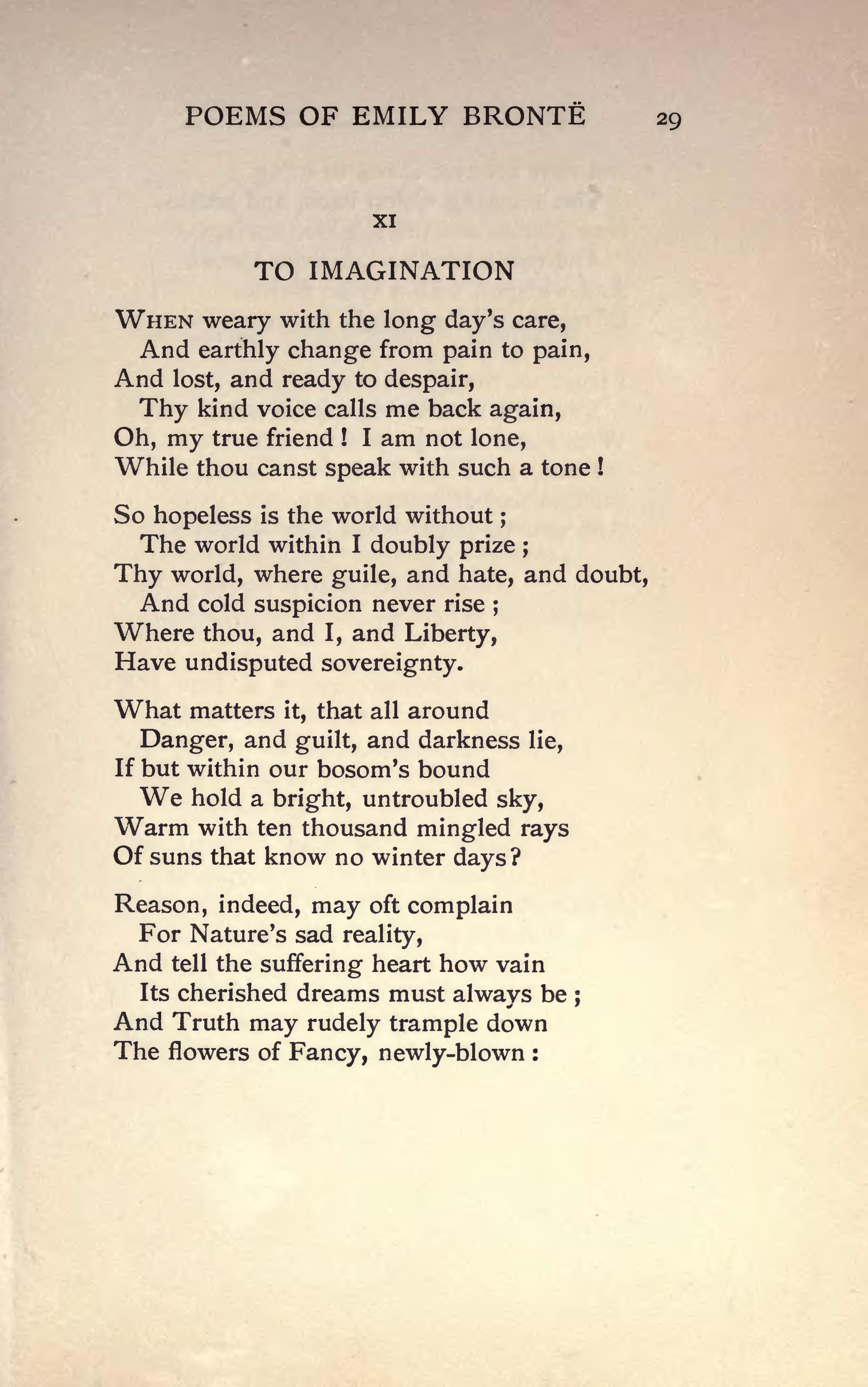 stars poem by emily bronte