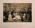 The deathbed of the Duke of Orleans in Paris in 1842. Engrav Wellcome V0006935.jpg