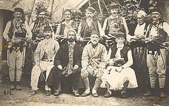 Albanian National Awakening - League of Prizren, group photo, 1878
