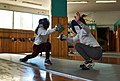 The fencers Anna Panagiotakopoulou and Irida Palli at Athenaikos Fencing Club.jpg