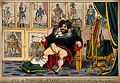 The gouty George IV relaxing before nine portraits chronicli Wellcome V0011336.jpg