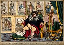 Karikatur auf den gichtigen König (von William Heath, 1824) (Quelle: Wikimedia)
